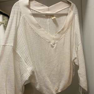 Free people white sweater